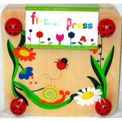 Wooden flower press board