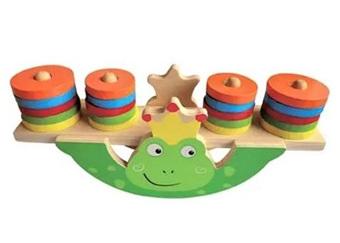 Wooden Frog Balance Game