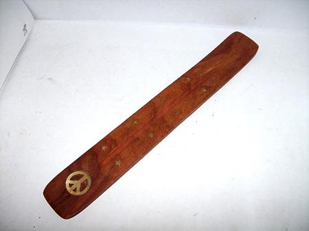 Wooden Incense Burner Peace