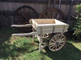 Wooden Wheeled Hand Cart
