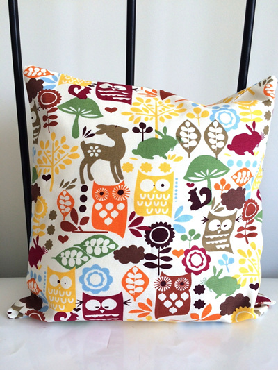 Woodland Animal Cushion Covers