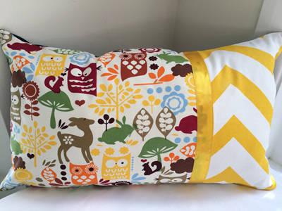Woodland Animal Cushion with Feather Inner