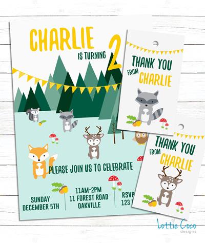 Woodland Animals Invitation