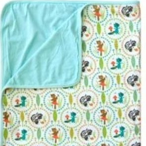 Lily & George Cotton Blanket - blue