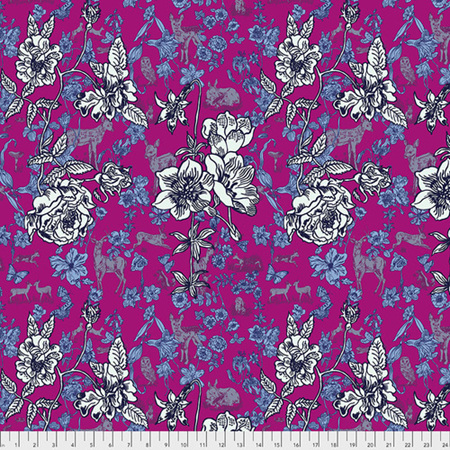 Woodland Walk Fawn in Flowers Pink PWNL015.Pink