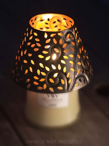 WOODWICK GLOWING LEAF SHADE MED