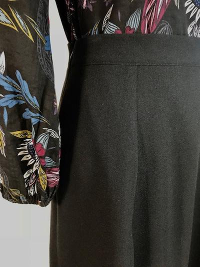 Wool crepe Loretta skirt