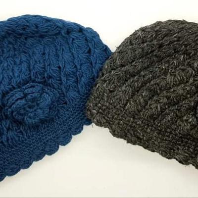Wool Hat Crotchet Flower