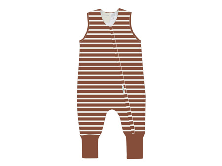 Woolbabe - Double Living Rewards! - Duvet Sleeping Suit 2 Years Lava Stripe