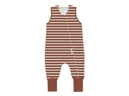 Woolbabe - Double Living Rewards! - Duvet Sleeping Suit Lava Stripe 3 Years