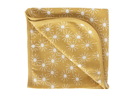 Woolbabe - Double Living Rewards! - Merino Organic Cotton Swaddle Blanket Golden Sunshine