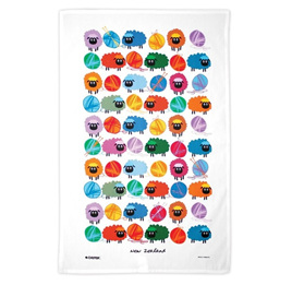 Wooly Brights Tea Towel
