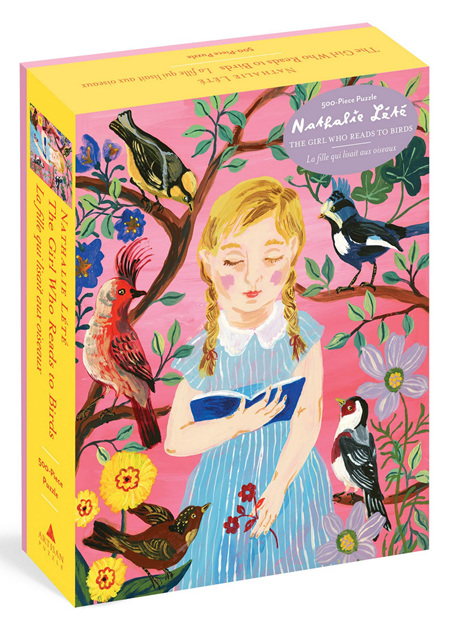 Workman Publishing 500 Piece Jigsaw Puzzle: Nathalie Lété: The Girl Who Reads to Birds