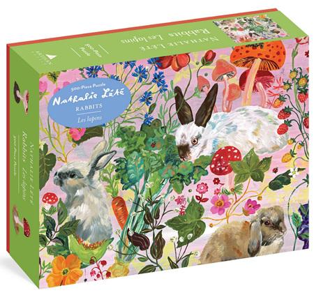 Workman Publishing 500 Piece Jigsaw Puzzle: Nathalie Lété: Rabbits
