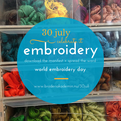 World Embroidery Day Morning Tea 10am - 1pm