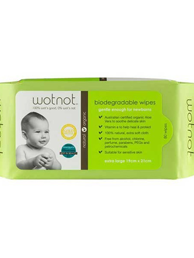 Wotnot Biodegradable Baby Wipes - 80 pack