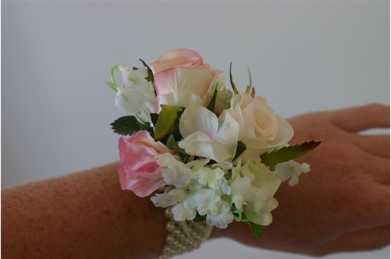 Wrist Corsage - High Tea