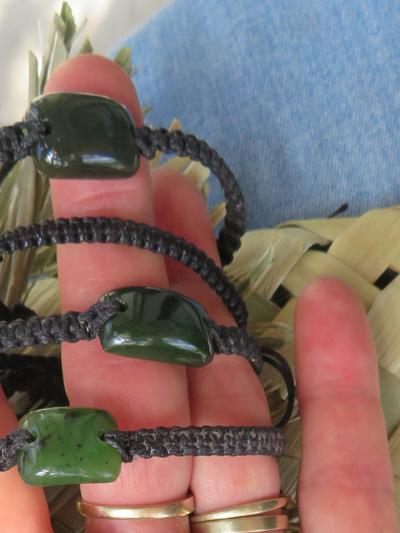 Polished NZ  Greenstone Bracelet WS06