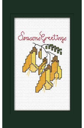 WTC25205   Xmas Card - Kowhai