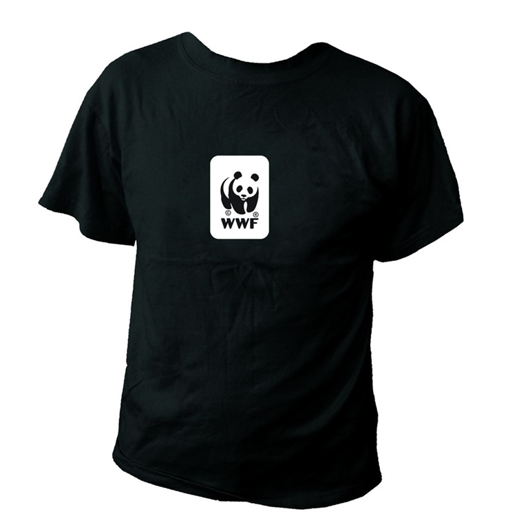 WWF Panda Logo Black T-Shirt (Kids)