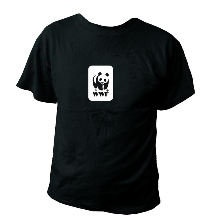 WWF Panda Logo Black T-Shirt (Kids)