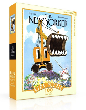 New York Puzzle Company 100 Piece Jigsaw Puzzle :  Excavator Slayer