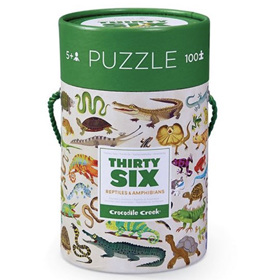 Crocodile Creek 100 Piece Floor Puzzle Reptiles & Amphibians