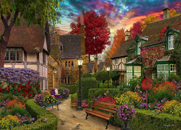 Holdson 1000 Piece Jigsaw Puzzle: Home Sweet Home 2: English Garden