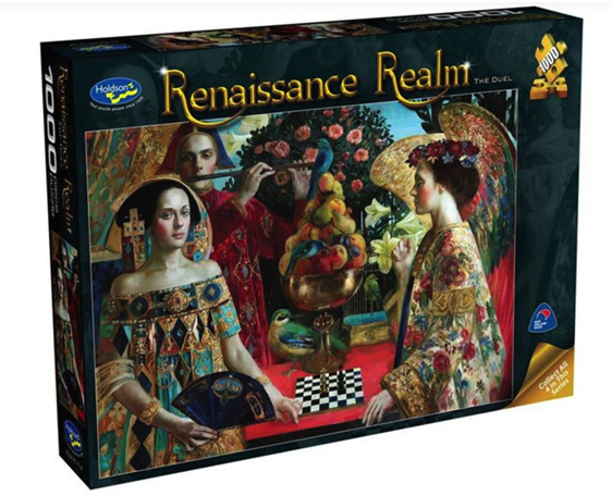 www.puzzlesnz.co.nz has Holdson 1000  piece puzzle Renaissance Realm 2 The Duel