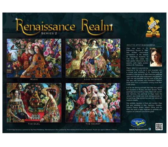 www.puzzlesnz.co.nz Holdson 1000  piece puzzle Renaissance Realm 2 Love Interest