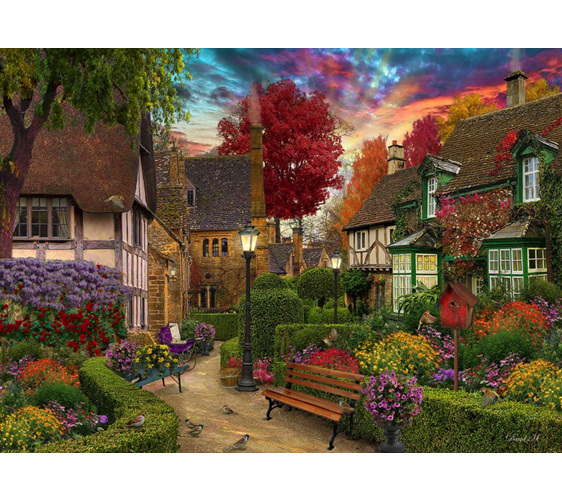 www.puzzlesnz.co.nz has Holdson 1000 piece jigsaw puzzle English Garden