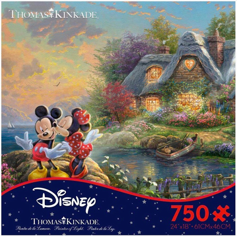 www.puzzlesnz.co.nz has Ceaco 750 piece puzzle Mickey & Minnie Sweetheart Cove