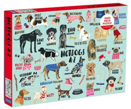 Mudpuppy 1000 Piece Jigsaw Puzzle: Hot Dogs