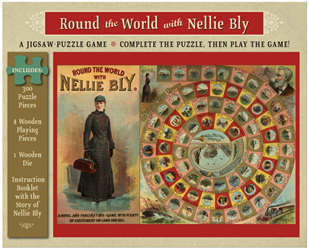 Pomegranate 300 Piece Jigsaw Puzzle & Game:  Round The World With Nellie Bly