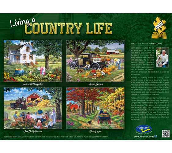 www.puzzlesnz.co.nz has Holdson 1000 piece jigsaw Puzzle Farmers Daughter