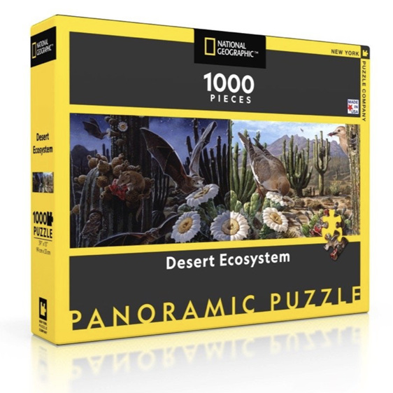 www.puzzlesnz.co.nz has 1000 piece puzzle Desert Ecosystem from New York Puzzle