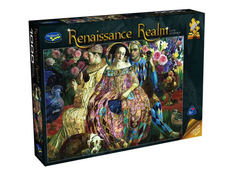 www.puzzlesnz.co.nz Holdson 1000  piece puzzle Renaissance Realm 2 Love Interest