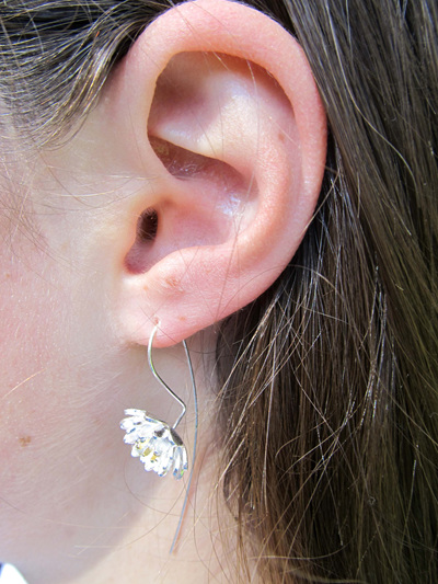 X03 Golden Lotus Drop Earrings