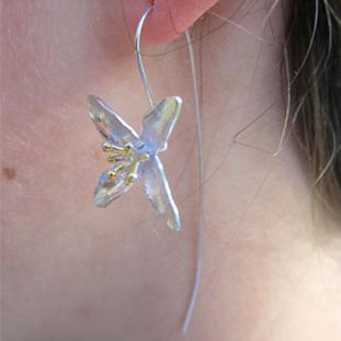 X08 Dainty Drop Sterling silver earrings