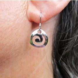 X14 Sterling silver koru drop earrings
