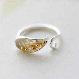 X21 Silver Calla Lily ring