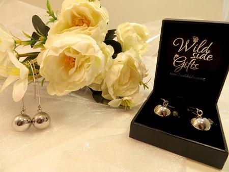 X52 Silver Ball drop earrings