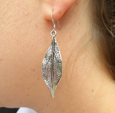 X54 Twisted leaf earrings