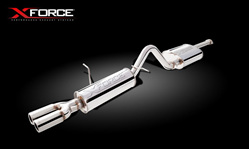 XFORCE FALCON BA BF SEDAN XR6 EXHAUST KIT 2.5' STAINLESS UN POLISHED XF-E4-F5-02-CBS