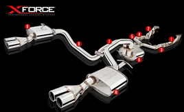 XFORCE FORD FALCON BA BF GT V8 CAT BACK EXHAUST