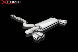 XFORCE IMPREZA STi 2007 On HATCH CAT BACK EXHAUST STAINLESS UNPOLISHED