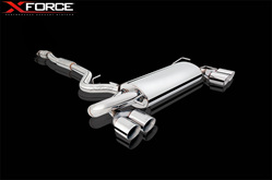 XFORCE IMPREZA STi 2007 On HATCH CAT BACK EXHAUST STAINLESS UNPOLISHED XF-E4-SW09-02-CBS