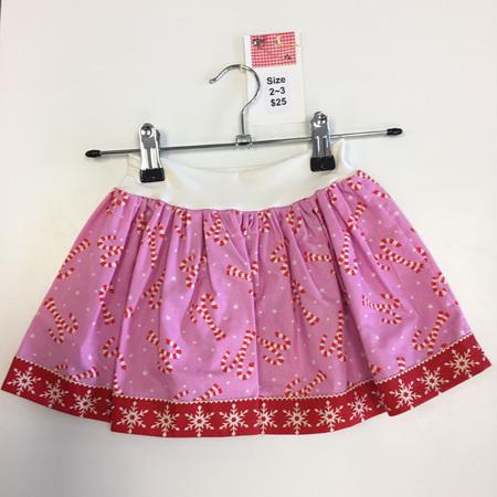 Xmas Candy Cane Skirt Size 2-3