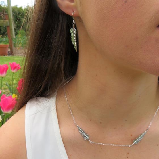 XP24 Sterling Silver Fern Necklace