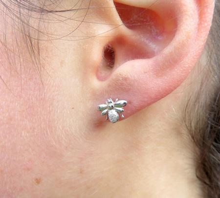 XP25 Sterling Silver Bee Studs earrings